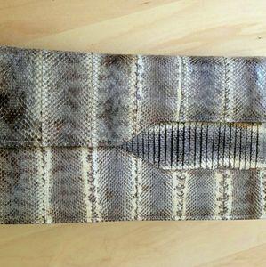 VTG Real Snakeskin Clutch